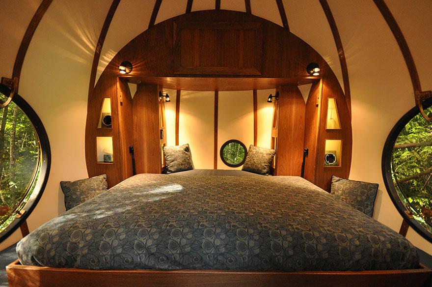 Отель «Сферы свободного духа» (Free Spirit Spheres), Канада - номера изнутри