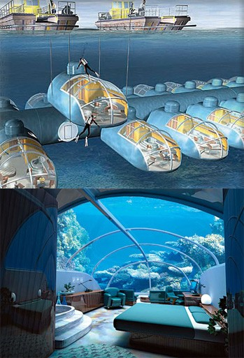 Самые необычные отели мира: люксовый подводный отель «Посейдон» на Фиджи