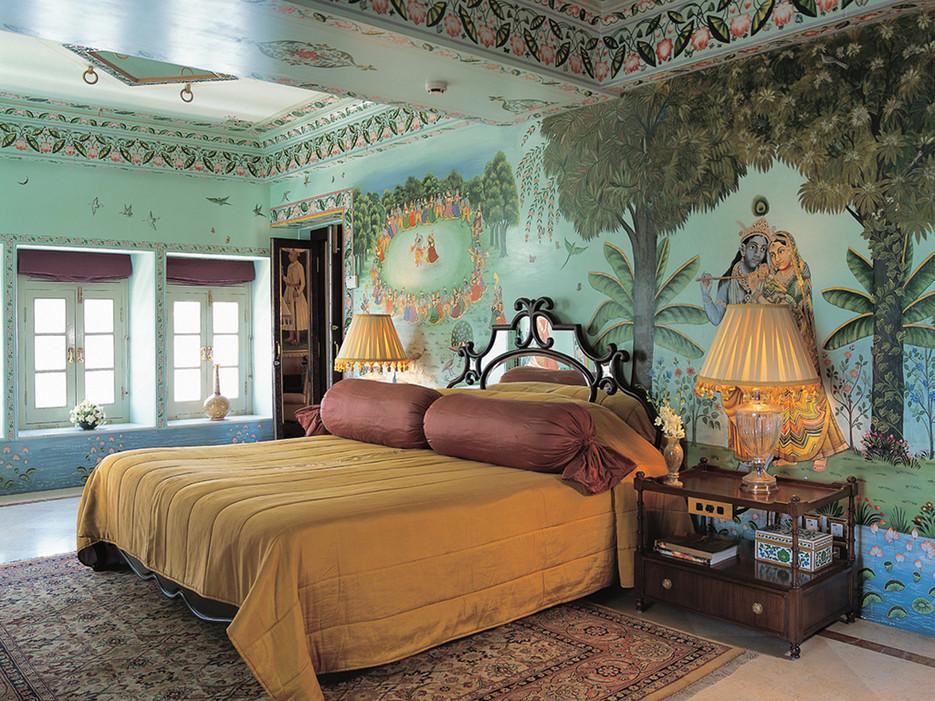 Самые необычные отели мира: пятизвездочный отель «Тадж Лейк Палас» в Индии, номера