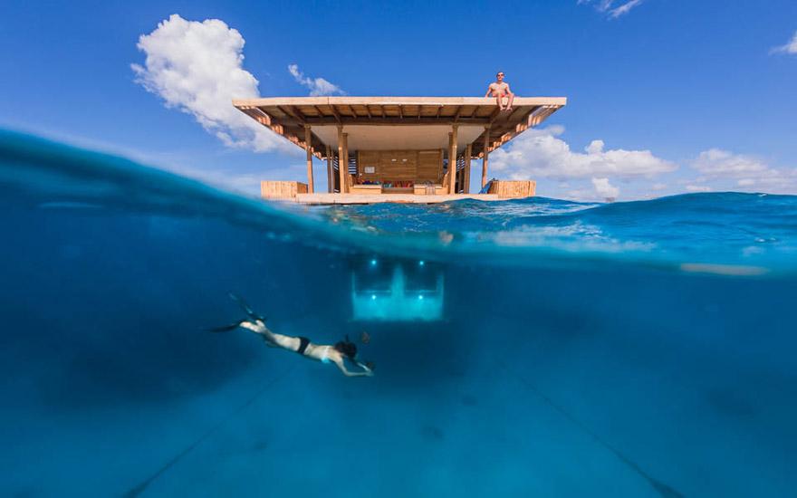 Плавающий двухэтажный отель-коттедж с подводным этажом, Занзибар