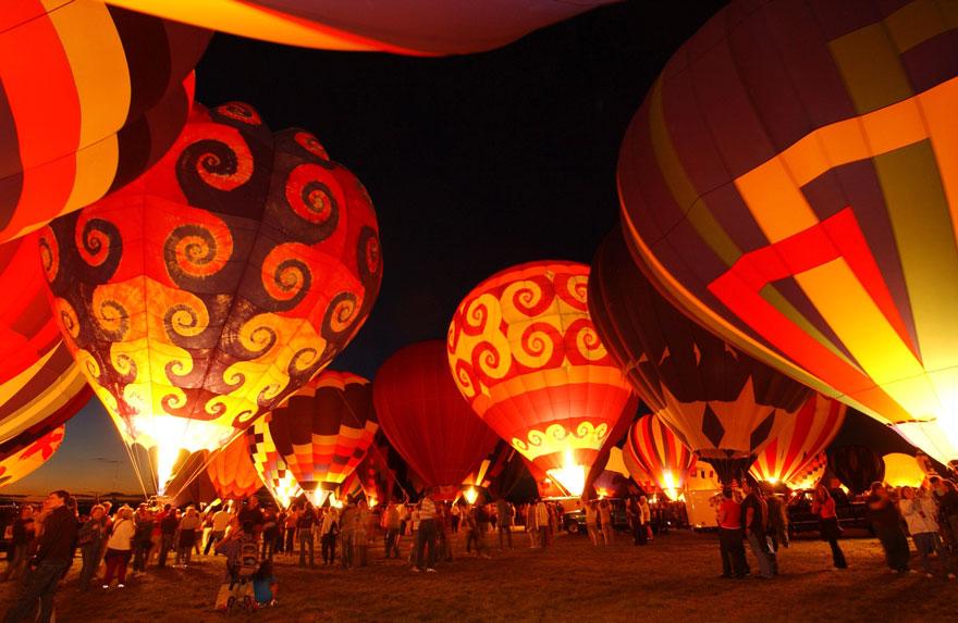 Международный праздник воздушных шаров в Альбукерке (США)
