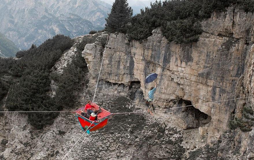 Международный фестиваль встреч на высоте (хайлайна) в Монте Пьяна, Италия