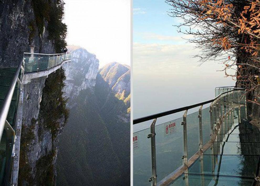 Самые страшные смотровые площадки мира: «Шаг веры» в Китае