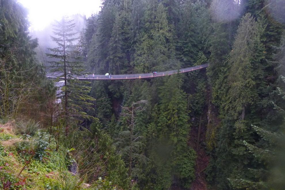 Самые страшные смотровые площадки мира: «Клиффуок» в Ванкувере