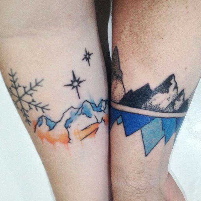 Как выглядят 15 самых популярных дизайнов татуировок за 2015 г. - горы