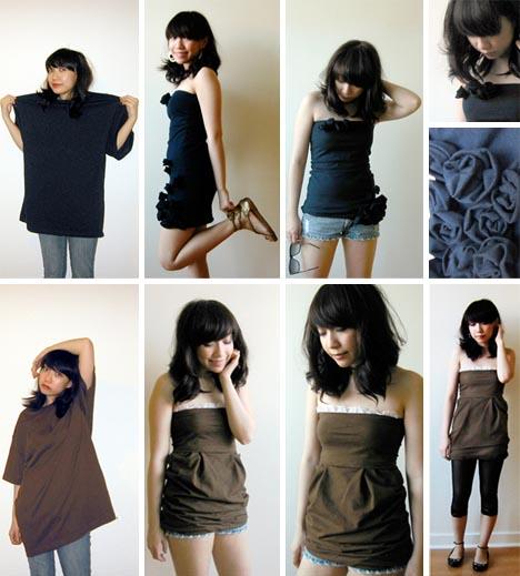 как преобразить скучную футболку: перешить футболку в мини-платье