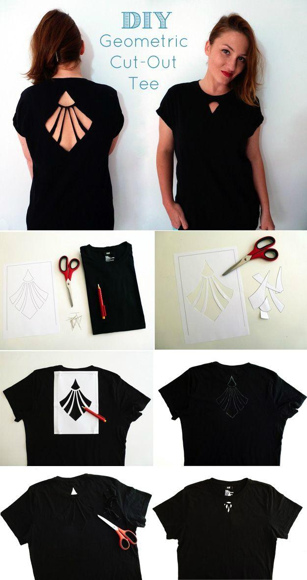 креативная переделка футболок: художественное разрезание футболки
