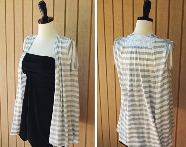 как преобразить скучную футболку: перешить в пляжную накидку вариант 1