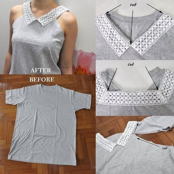 Как сделать скучную футболку креативной - 2