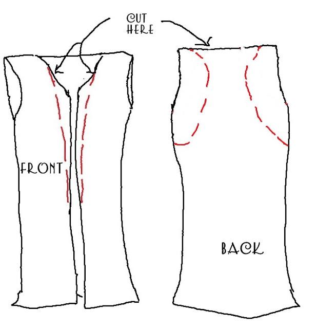 как преобразить скучную футболку: перешить в пляжную накидку вариант 3 - пошаговая инструкция в картинках