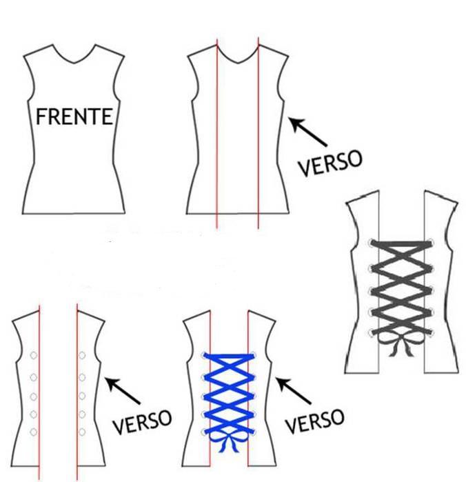 как преобразить скучную футболку: шнуровка сзади