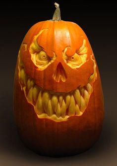 самые жуткие Хэллоуинские тыквы