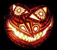 самые жуткие Хэллоуинские тыквы: тыква в стиле Майя/Ацтеков