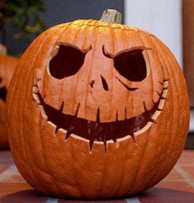самые жуткие Хэллоуинские тыквы: простой дизайн