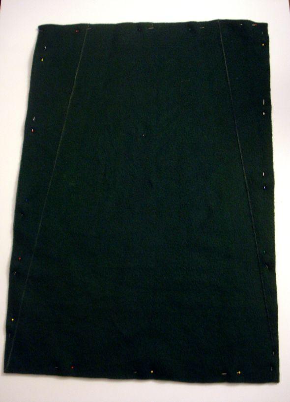 сколите 2 куска ткани вместе по всему периметру
