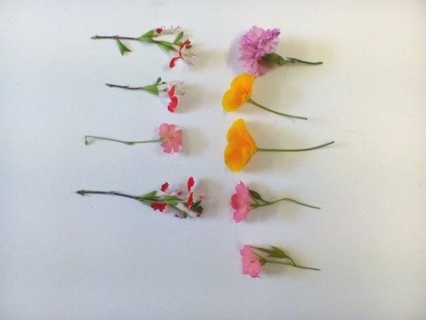 Собираем симпатичные свежие(!) цветы деликатного формата