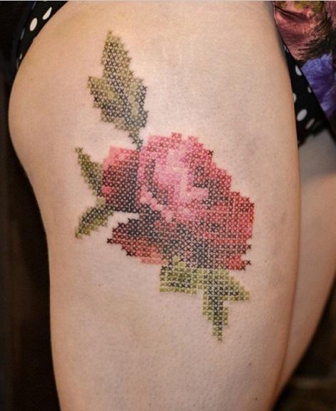 Самые последние наработки стилей: Топ-5 самых популярных татуировок - вышивка крестиком