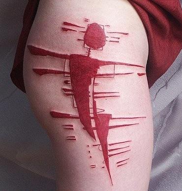 Как выглядят самые популярные направления современных татуировок - татуировки красными чернилами, концептуальные, племенные