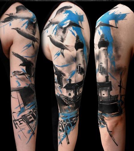 Как выглядят самые популярные направления современных татуировок - реалистичная треш полька