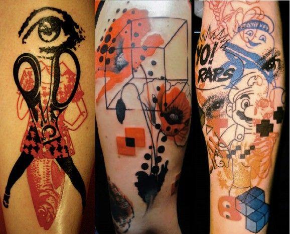 Как выглядят самые популярные направления современных татуировок - Графичные тату и татуировки под изображения акварелью, рукава