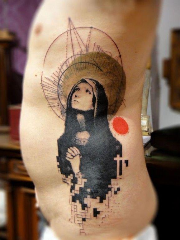 Как выглядят самые популярные направления современных татуировок - Графичные тату и татуировки под изображения акварелью