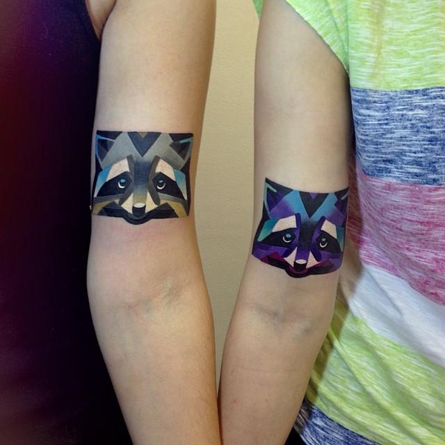 Как выглядят самые популярные направления современных татуировок - Графичные тату и татуировки под изображения акварелью, парные