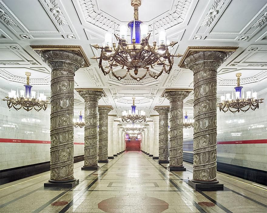 Как выглядят 30+ самых красивых станций метро в мире - Автово, Санкт-Петербург, Россия, после ремонта
