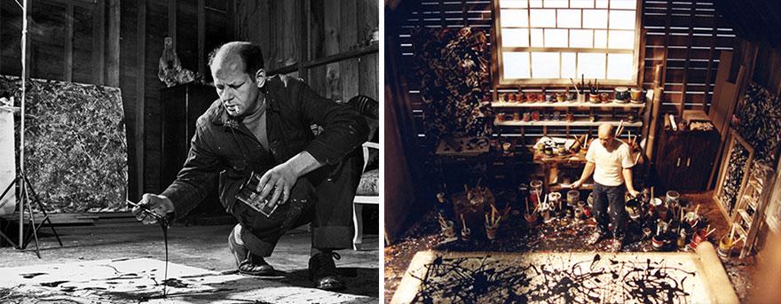 Джексон Поллок и процесс создания полотен абстрактного импрессионизма