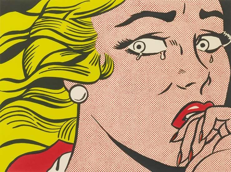 Рой Лихтенштейн и его картина-сатира на поп-арт