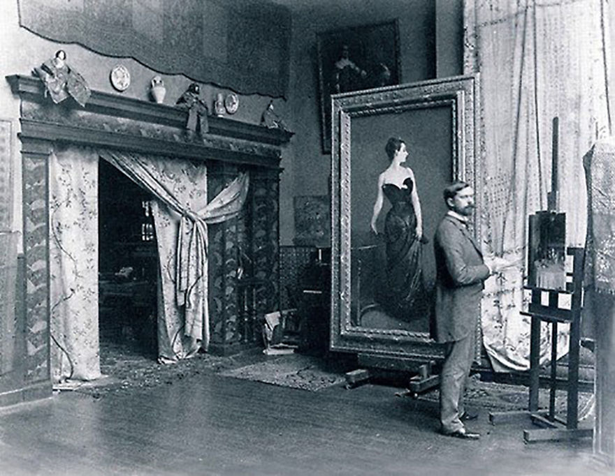 Джон Сингер Сарджент в своей мастерской
