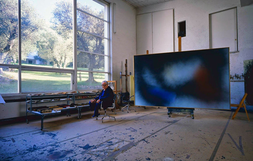 Ханс Хартунг, художник, его студия