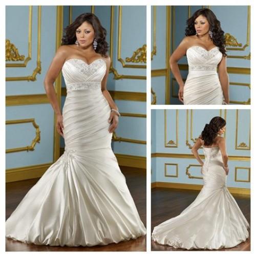 Свадебное платье с корсетом на полную фигуру