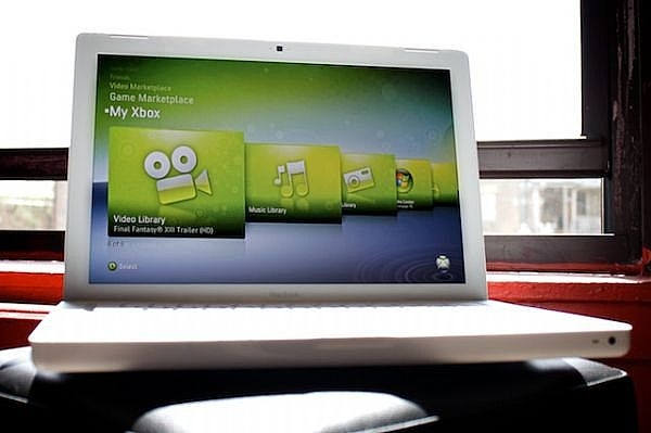 Отображение функций работы с Xbox 360 на экране компьютера