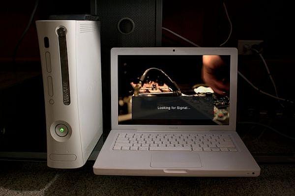 Xbox 360 подключен напрямую к компьютеру - поиск сигнала