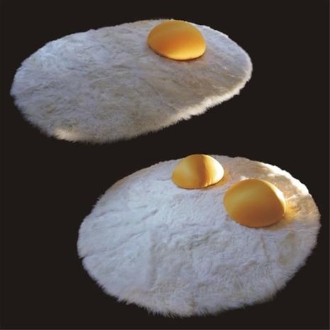 лежак-коврик для домашних питомцев - яичница