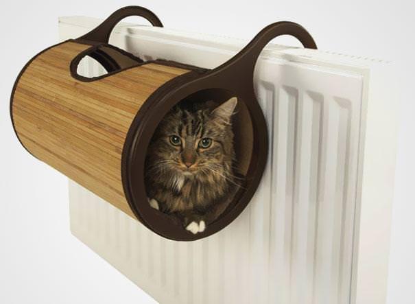 навесной лежак для кошек на батарею