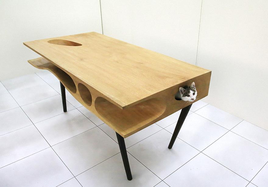 игровой столик-домик для котов