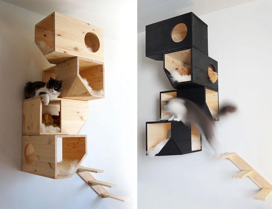 домики-стойки для котов