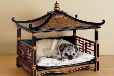 лежак-пагода для собак и котов