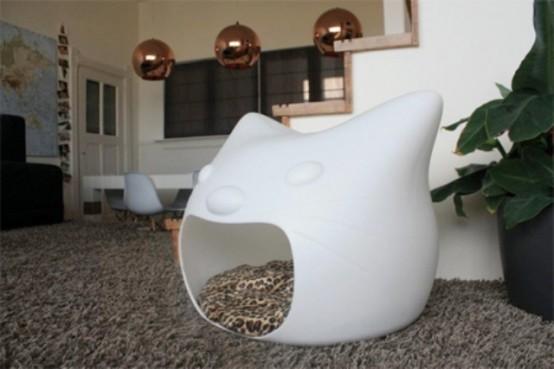 лежак для кошек - голова кота