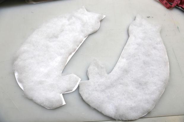 Повторите с задником сумки и его прокладочным материалом