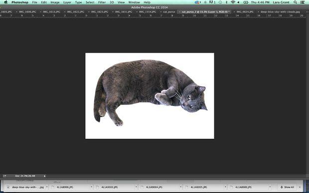 Смените разрешение выбранного изображения по крайней мере на 300 dpi