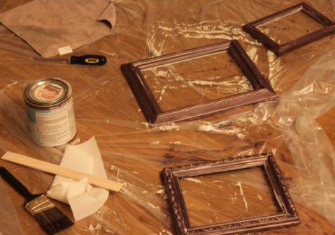Как перепрофилировать старые картинные рамы в новый предмет интерьера