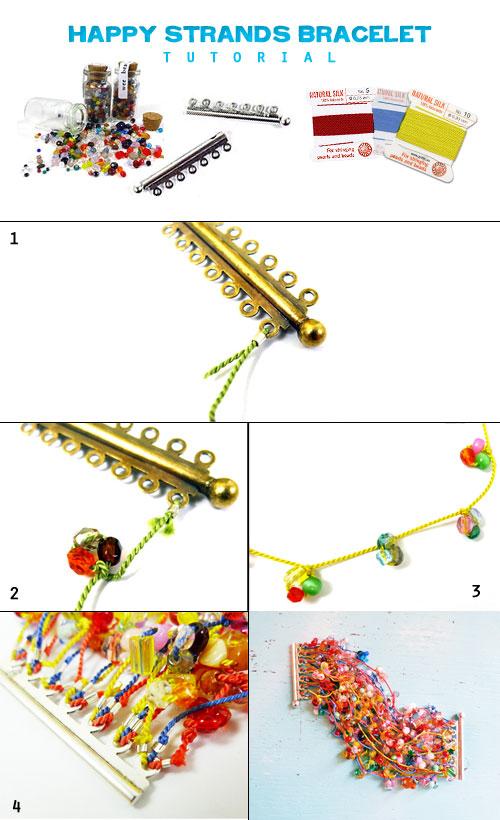 Как сделать модный широкий пышный и яркий летний браслет