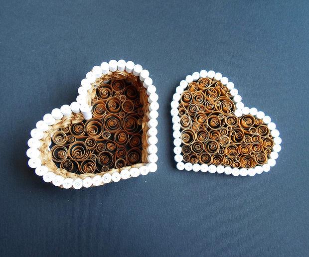"""Как сделать шкатулку в форме сердца по технике """"квиллинг"""" на День святого Валентина"""