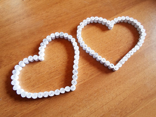 сердца-рамки в технике квиллинг