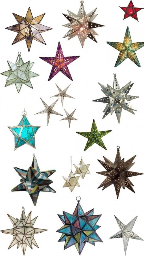 Добавьте на все нижние края дополнительные ушки – и можно склеить вместо звезды остроконечный «шар»