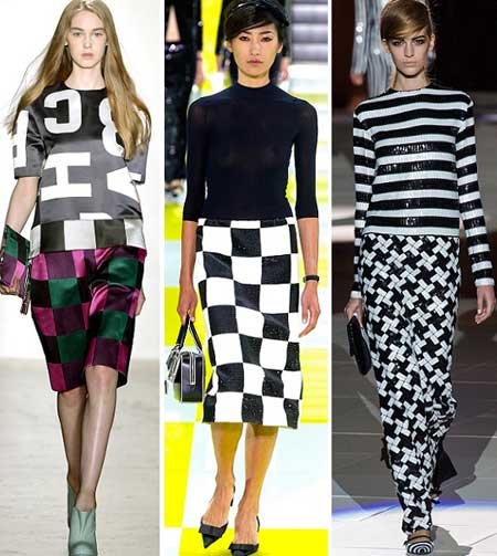 модная одежда осень 2013 клетка шахматы