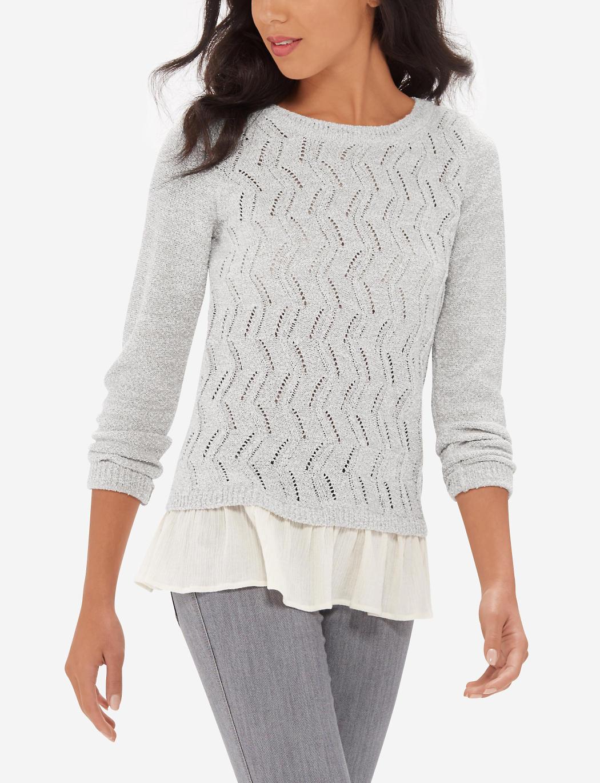 Модный свитер/кофта/пуловер с плиссированной вставкой