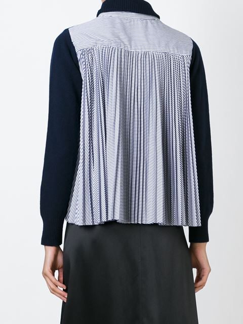 Модный свитер/кофта/пуловер с плиссированной вставкой на спине